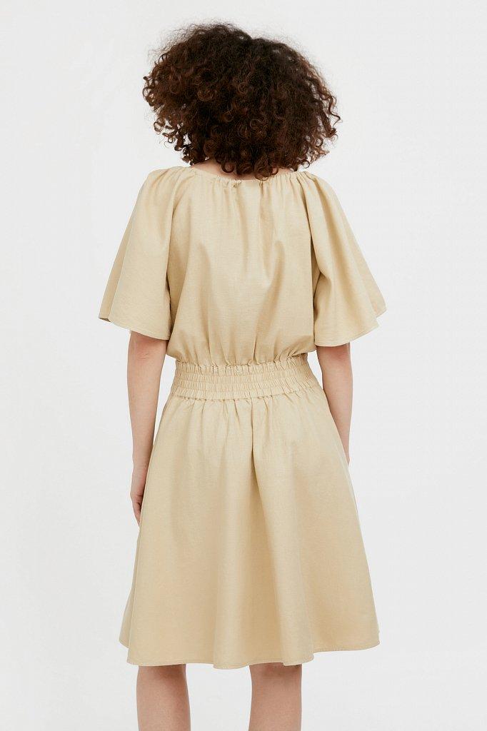 Платье-мини с объемными рукавами, Модель S21-12018D, Фото №4