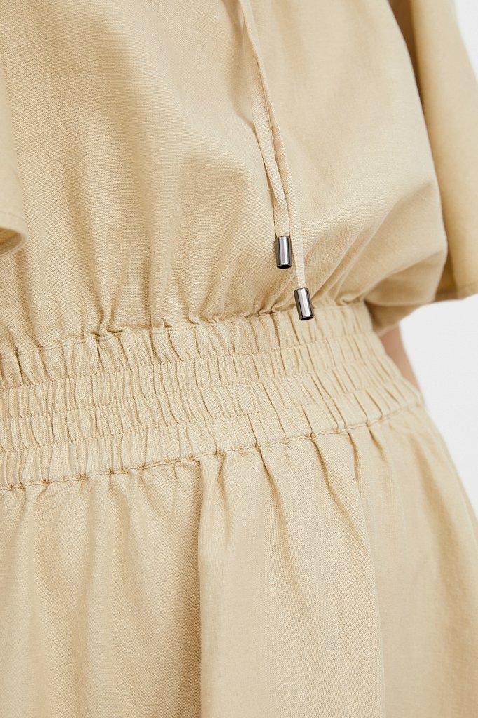 Платье-мини с объемными рукавами, Модель S21-12018D, Фото №5