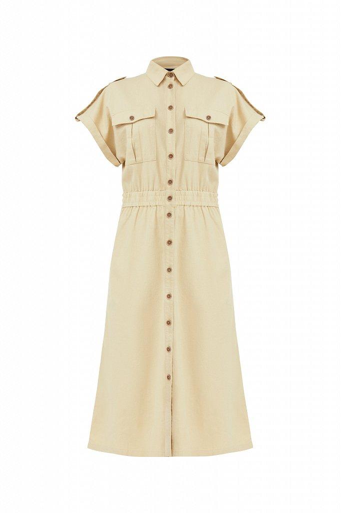 Платье-рубашка с короткими рукавами, Модель S21-12028, Фото №7