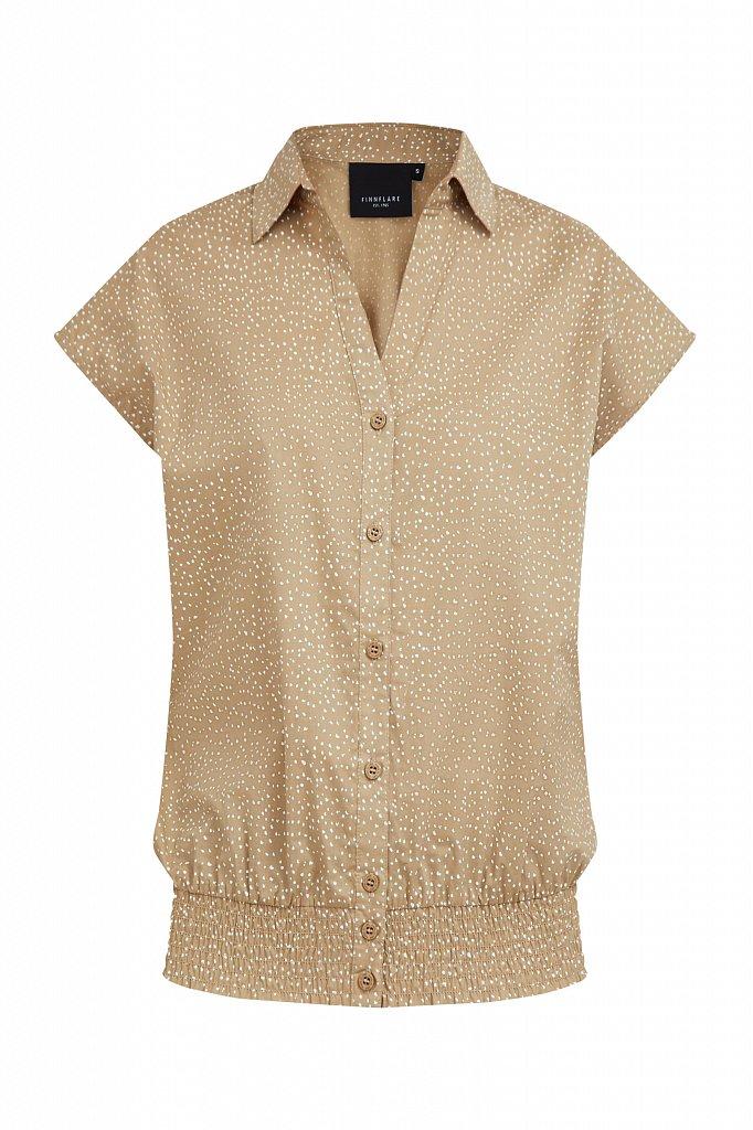 Хлопковая блузка с пестрым принтом, Модель S21-12042, Фото №7