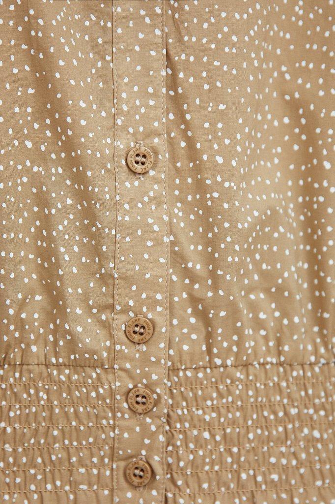 Хлопковая блузка с пестрым принтом, Модель S21-12042, Фото №5