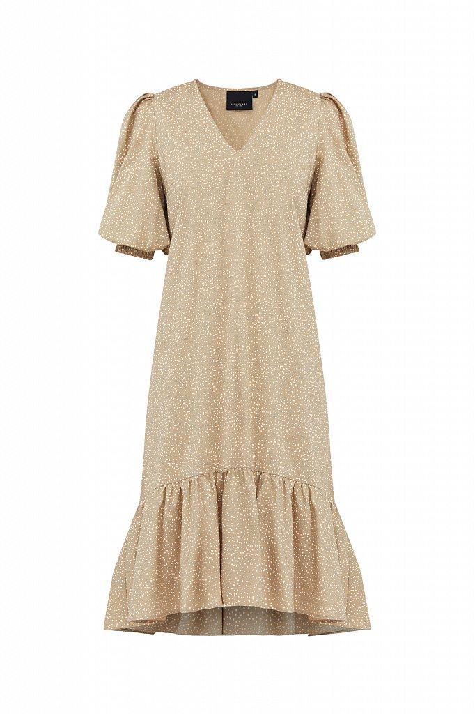 Платье асимметричного кроя с принтом, Модель S21-12044, Фото №7
