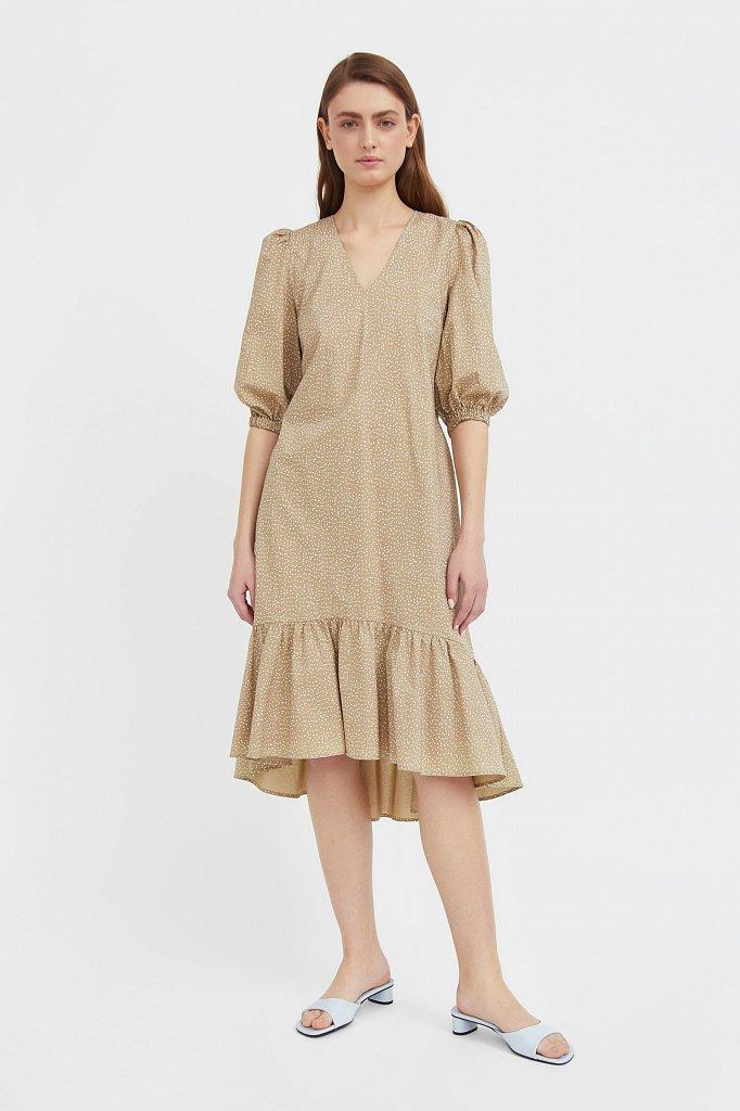 Платье асимметричного кроя с принтом, Модель S21-12044, Фото №3