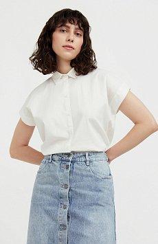 Хлопковая рубашка с короткими рукавами S21-11005