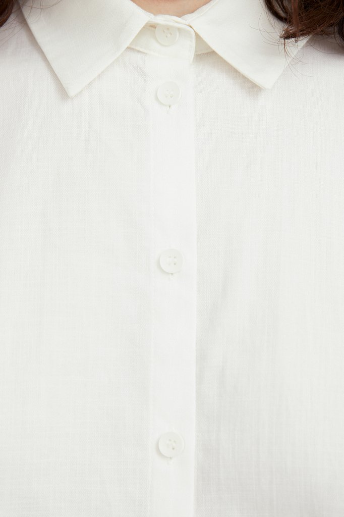 Хлопковая рубашка с короткими рукавами, Модель S21-11005, Фото №5