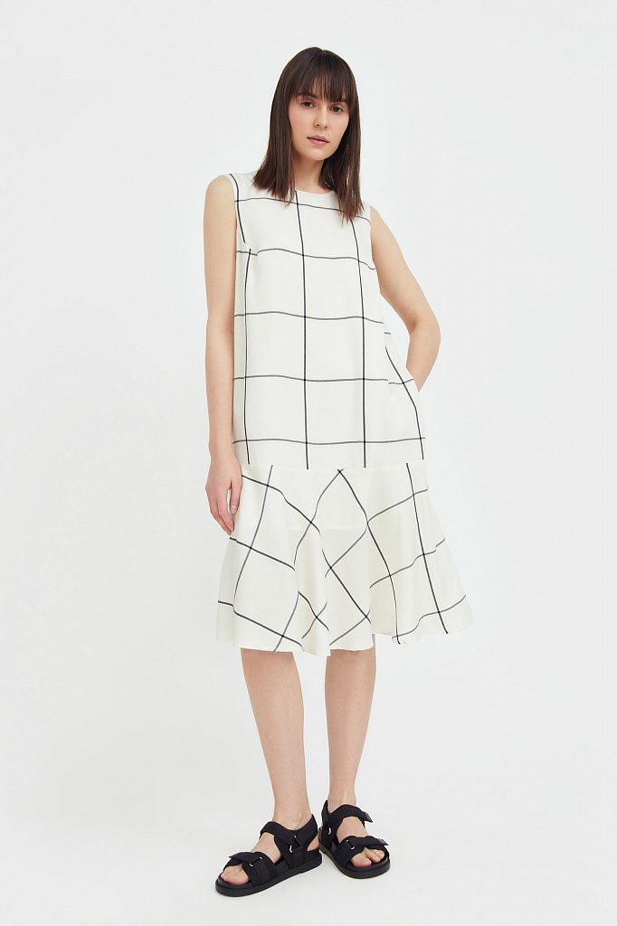 Платье с геометричным принтом, Модель S21-14049, Фото №2