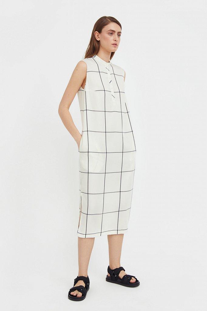 Платье прямого кроя в крупную клетку, Модель S21-14051, Фото №2