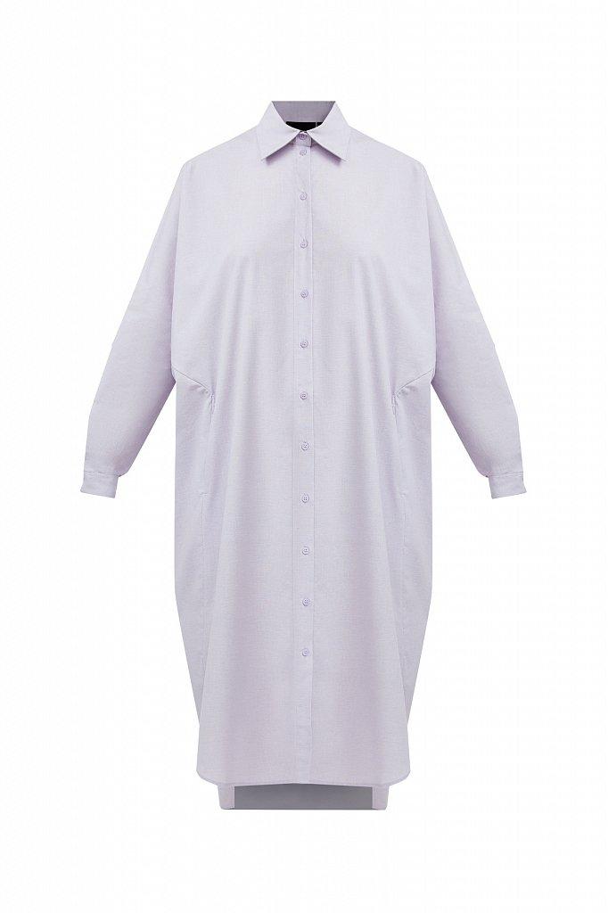 Платье-рубашка из 100% хлопка, Модель S21-11039, Фото №8