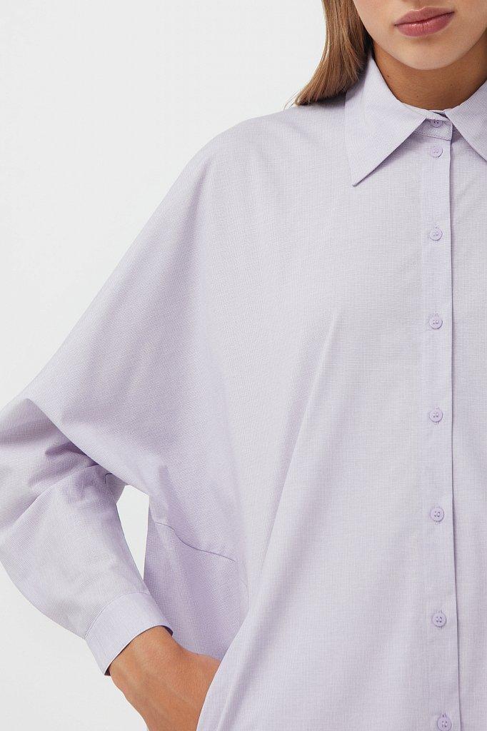 Платье-рубашка из 100% хлопка, Модель S21-11039, Фото №3