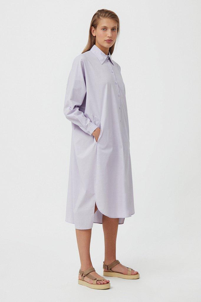 Платье-рубашка из 100% хлопка, Модель S21-11039, Фото №4