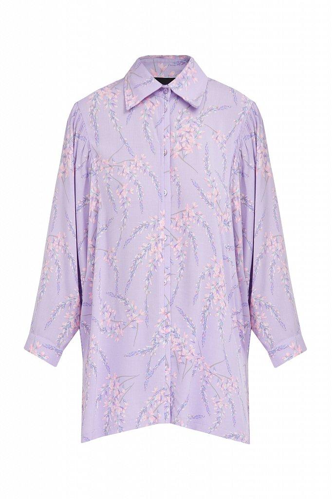 Рубашка с цветочным принтом, Модель S21-11068, Фото №7