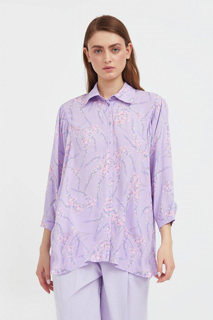 Рубашка с цветочным принтом, Модель S21-11068, Фото №2