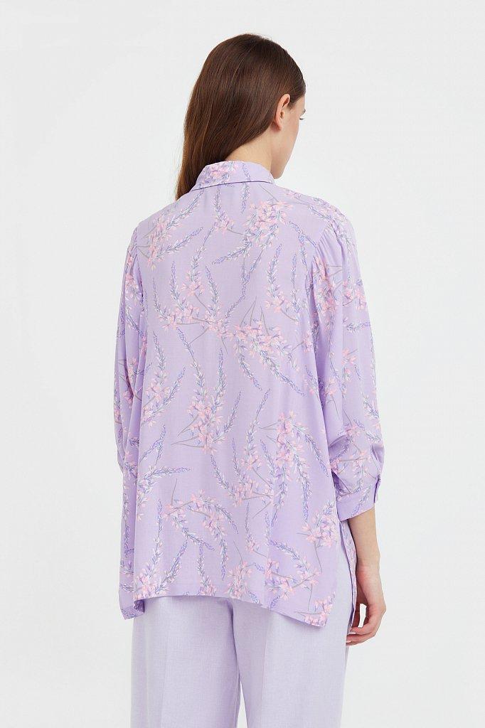 Рубашка с цветочным принтом, Модель S21-11068, Фото №4