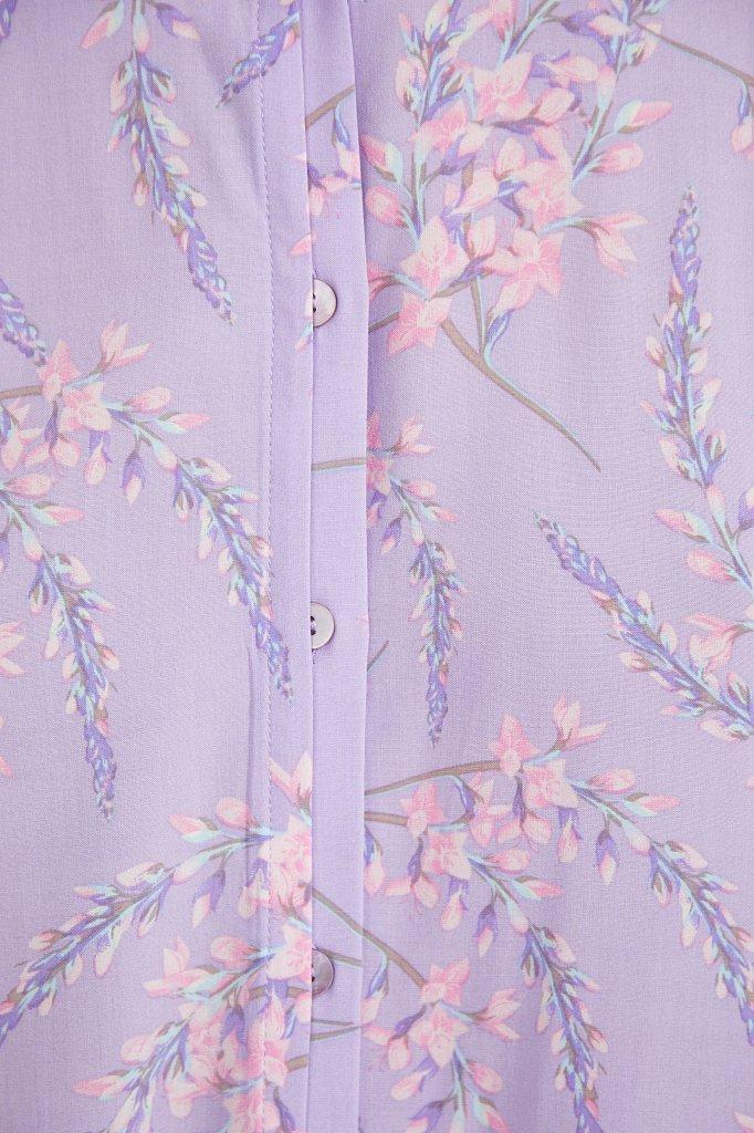 Рубашка с цветочным принтом, Модель S21-11068, Фото №5