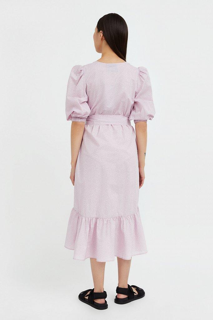 Платье асимметричного кроя с принтом, Модель S21-12044, Фото №4
