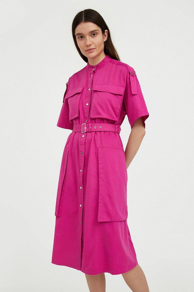 Платье-рубашка из хлопка, Модель S21-32043, Фото №1