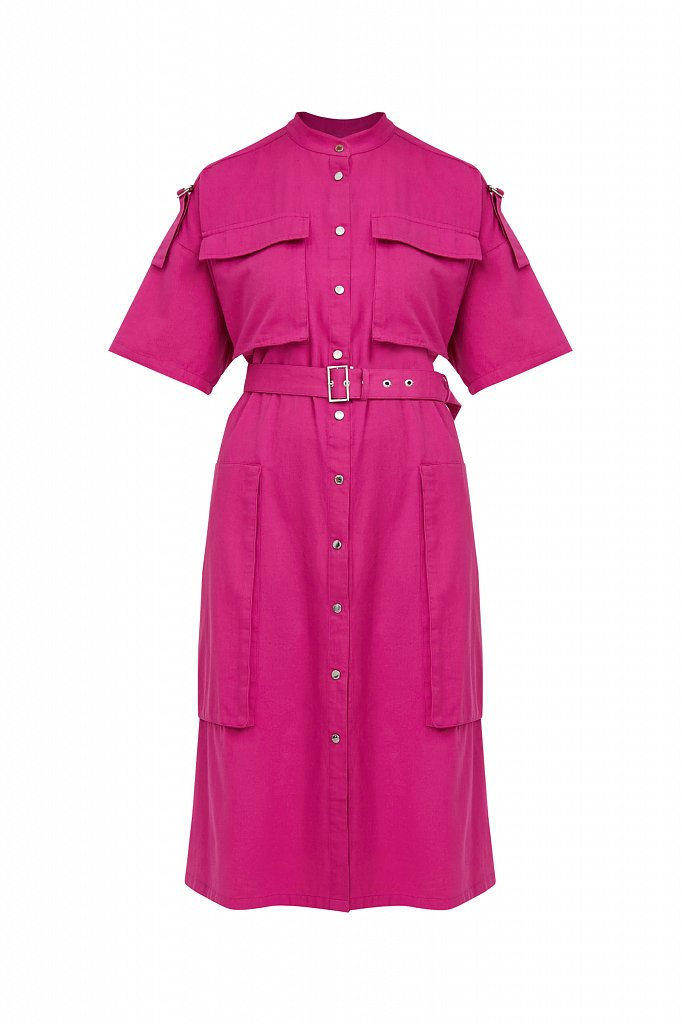 Платье-рубашка из хлопка, Модель S21-32043, Фото №7