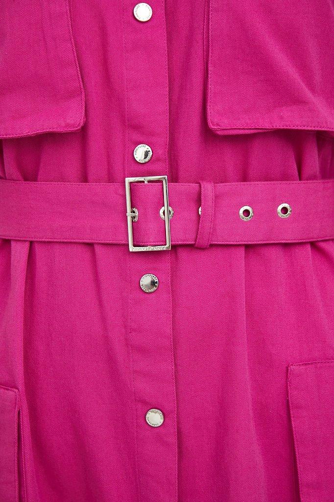 Платье-рубашка из хлопка, Модель S21-32043, Фото №5