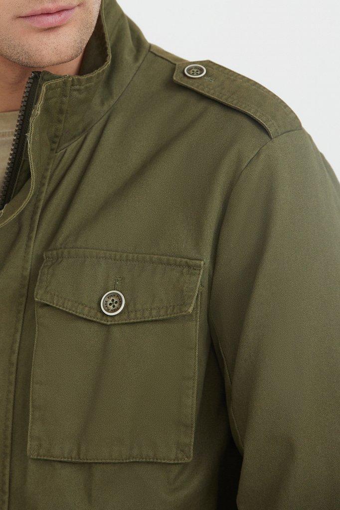 Хлопковая ветровка с накладными карманами, Модель S21-22002, Фото №4