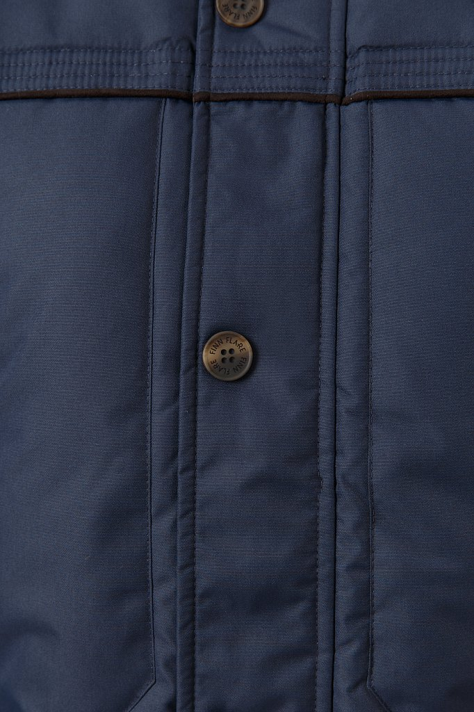 Пуховик мужской, Модель W18-21008, Фото №5