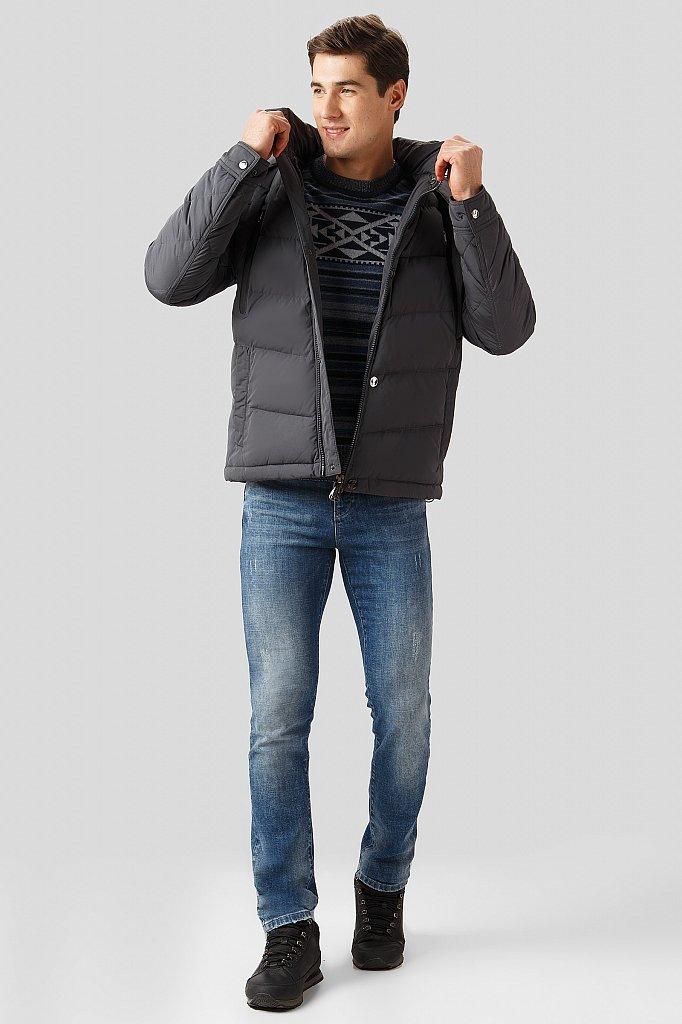Пуховик мужской, Модель W18-21002, Фото №2