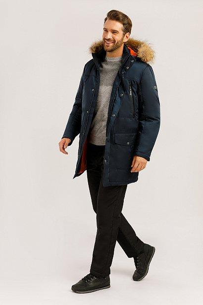 Пальто мужское, Модель W19-22012, Фото №2