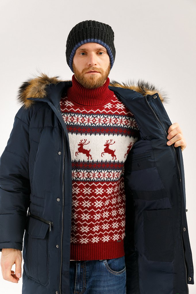 Пальто мужское, Модель W19-22003, Фото №5