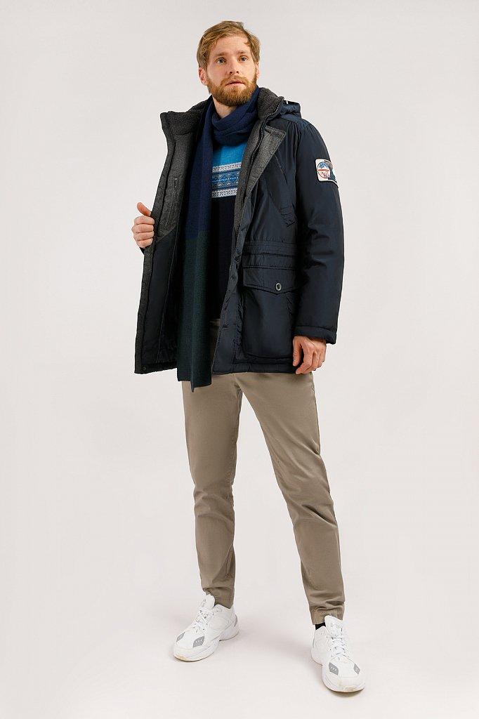 Полупальто мужское, Модель W19-22010F, Фото №2