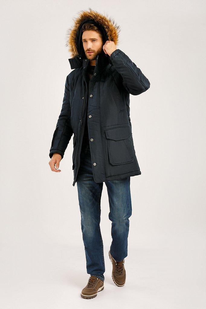 Полупальто мужское, Модель W19-22015, Фото №1