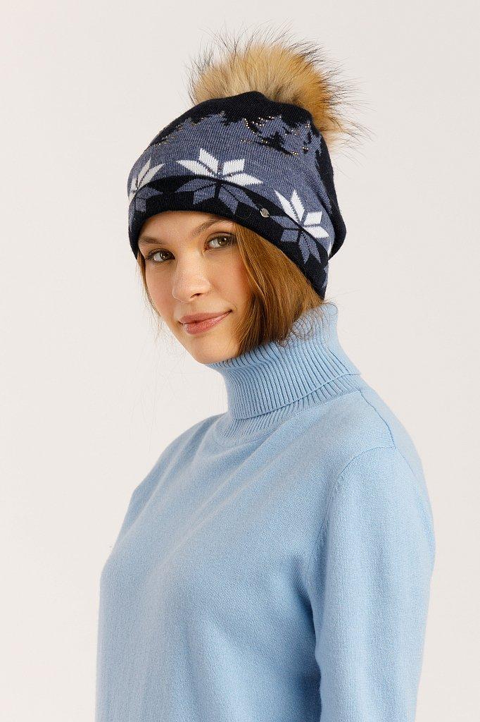 Шапка женская, Модель W19-32130, Фото №2