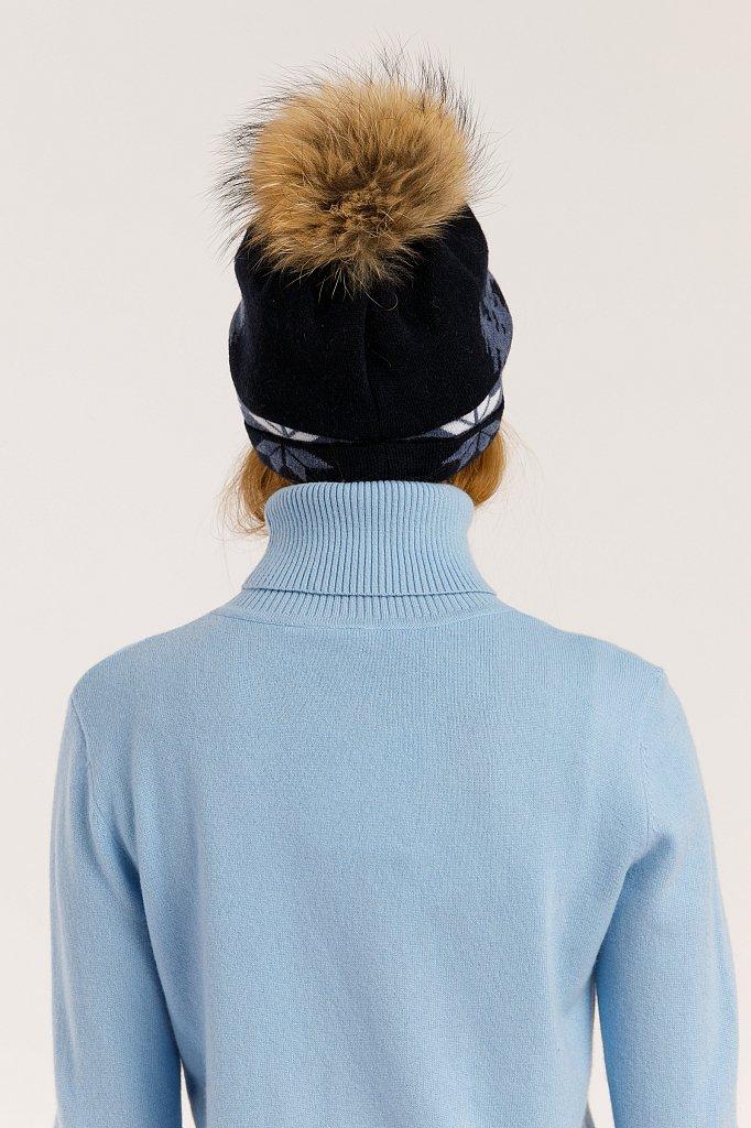 Шапка женская, Модель W19-32130, Фото №3