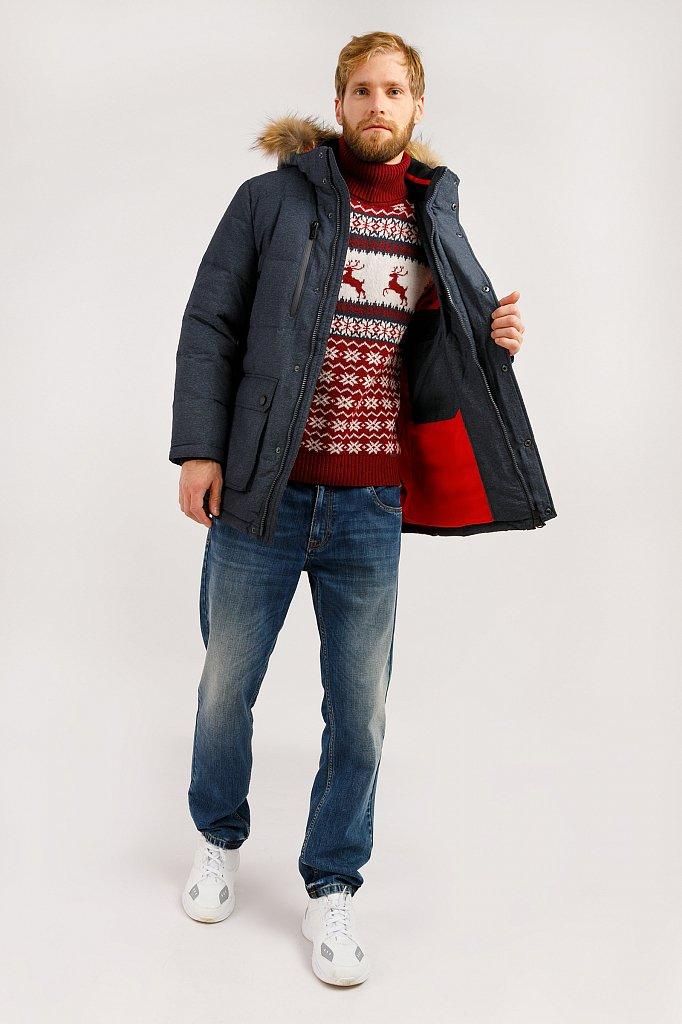Полупальто мужское, Модель W19-42012, Фото №2