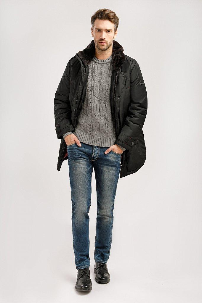 Пальто мужское, Модель W19-21008, Фото №3