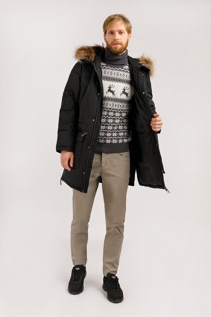 Пальто мужское, Модель W19-22003, Фото №2