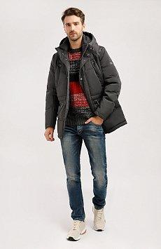 Полупальто мужское, Модель W19-22011, Фото №2