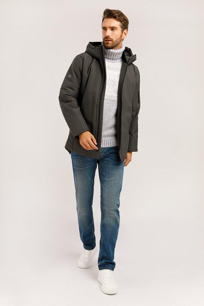 Полупальто мужское, Модель W19-22025, Фото №2