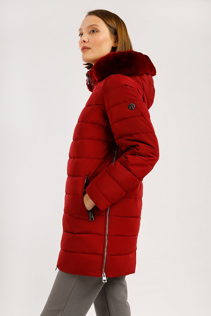 Полупальто женское, Модель W19-11035, Фото №3