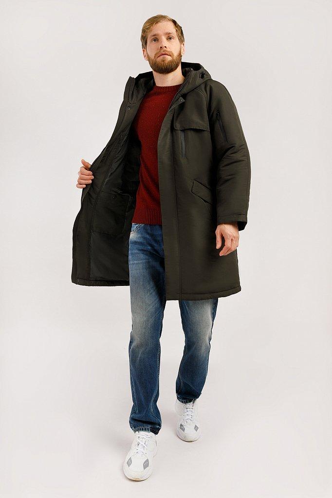 Пальто мужское, Модель W19-42003, Фото №2