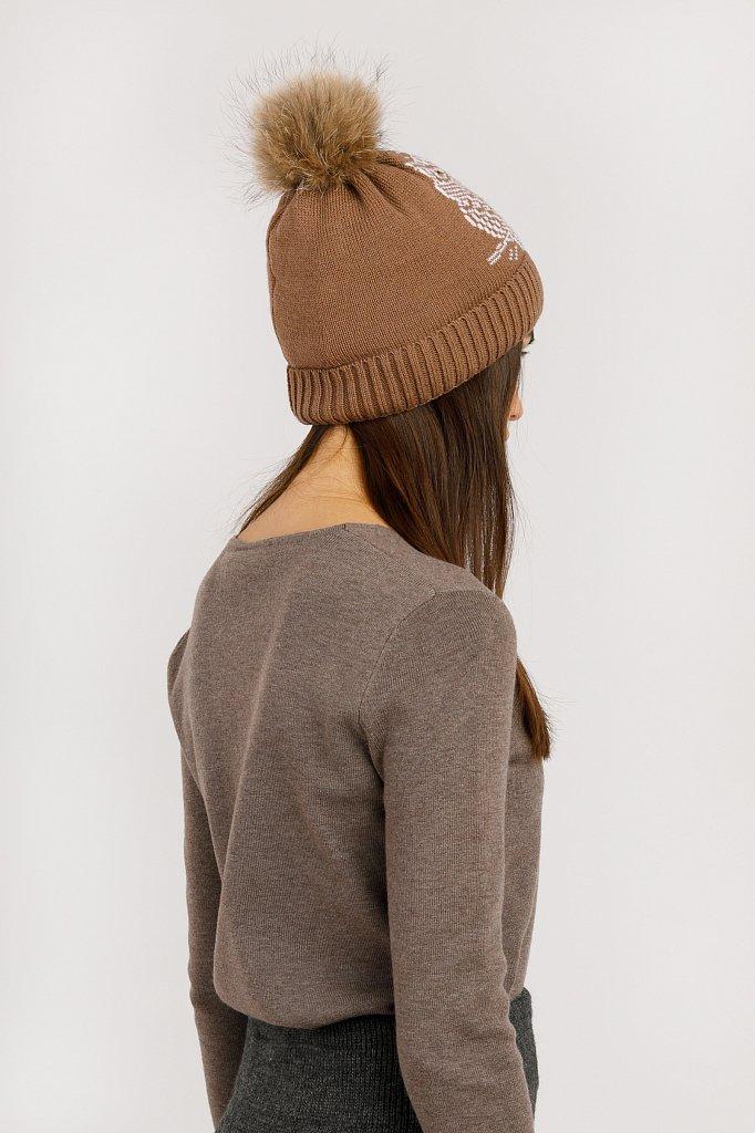 Шапка женская, Модель W19-12165, Фото №3