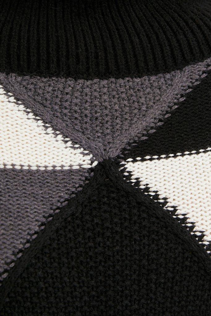 Трикотажный женский свитер прямого кроя с шерстью, Модель W20-32113, Фото №6